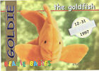 TY Beanie Babies BBOC Card - Series 1 Retired (SILVER) - GOLDIE the Goldfish NM