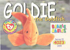 TY Beanie Babies BBOC Card - Series 2 Common - GOLDIE the Goldfish - NM/Mint