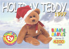TY Beanie Babies BBOC Card - Series 2 Common - 1997 HOLIDAY TEDDY - NM/Mint
