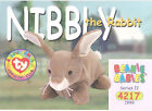 TY Beanie Babies BBOC Card - Series 2 Common - NIBBLY the Rabbit - NM/Mint
