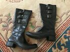 Attention Black Mid Calf Boots Size 75 CUTE DETAILING
