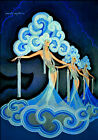 Vintage French Poster Art CANVAS PRINT Folies Bergere A3