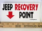 Magnet  Jeep Recovery Point Magnetic Bumper Sticker