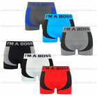 Mens Seamless Fit Boxer Shorts Trunks Briefs Adults Triple Pack Underwear