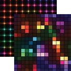 Reminisce NEON NIGHTS 12x12 Dbl Sided 2pc Scrapbooking Paper TECH