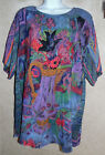 Lovely Multicolor Short Sleeve Carole Little Art To Wear Tunic 10 48 Bust