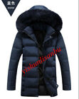 Winter Mens Faux Fur Hooded Down Warm Coats Casual Thicken Parkas Outwears Jacke