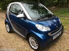 2009 SMART FORTWO PASSION 10 MHD AUTO METALLIC BLUE SILVER Serviced and MOT