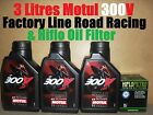 3L MOTUL 300V FACTORY LINE 10W40 OIL+ HF145 FILTER MuZ 660 SKORPION TRAVELLER 99