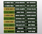 Toolbox Labels Sticker Decals For Drawers And All Tool Box Chest Set 30 Pack