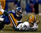 Michael Strahan New York Giants Autographed 16x20 Sacking Favre Photo - Fanatics