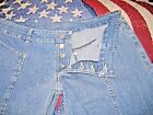 Womens Rufskin Denim Jeans Size 34 35 x 36 Button Fly Flare Made in USA