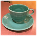 Vintage Fiestaware Turquoise Cup and Saucer Made in USA Homer Laughlin Fiesta