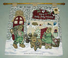Boyds Bears Elfbeary Workshop Christmas Tapestry Wall Hanging