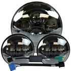 New 7 LED Projector Headlight + Passing Lights Fit for Harley Touring Black