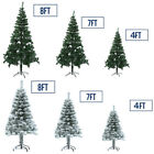 4 7 8 Feet Tall Christmas Tree W Stand Holiday Season Indoor Outdoor 2 Colors S2