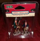 Lemax Village Collection CHIMNEY SWEEP TEAM Set 2 Christmas Figurines Accessory