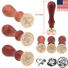 US Rose Stamp Vintage Wooden Handle Wax Seal Wedding Party Invitation Card Tool