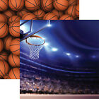 Reminisce ARENA 12x12 Dbl Sided 2pc Scrapbooking Paper BASKETBALL