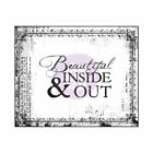 Prima Bella Rouge Collection Clear Stamp Beautiful Inside