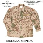 GERMAN ARMY ISSUE TROPENTARN CAMO BDU TOP SIZE GRNR10 46CHEST USED SURPLUS