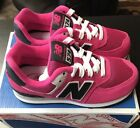 New Balance Girls Size 125 Shoes 574 Classics Pink Kids Free Priority Shipping