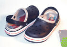 30 Crocs Crocband Lined Kids Navy Red Size C10 11 CLEARANCE