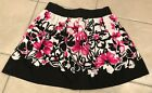 Stargazer Size Small White Pink Black Floral pleated mini skirt juniors elastic