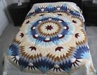 NEW AMISH HANDMADE PATCHWORK QUILT FROM LANCASTER PA BROKEN STAR 104x117