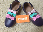 NEW GYMBOREE Toddler GIRLS Navy w Tri color Bows Dress Shoes Size 5 Medium F S