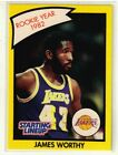 1990 JAMES WORTHY - Kenner Starting Lineup Card - Los Angeles Lakers - (Yellow)