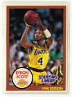 1990 BYRON SCOTT - Kenner Starting Lineup Card - Los Angeles Lakers - (White)