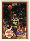1990 JAMES WORTHY - Kenner Starting Lineup Card - Los Angeles Lakers - (White)