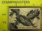 Rubber Stamp Collage Stampers Anonymous Faces Feathers Stampinsisters 871