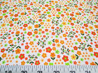 Discount Fabric Quilting Cotton Orange and Green Floral J203