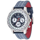 DETOMASO Firenze Racing Blue Chronograph Mens Watch Stainless Steel 10 ATM New