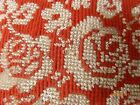 Antique BEAD WORK Victorian PIN PILLOW CUSHION Roses NEEDLEPOINT WOOL WORK