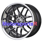 XXR 526 18 Chromium Black Deep Lip Staggered Rims 5x1143 Wheels Fit Nissan 350z