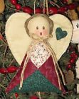 HANDMADE COUNTRY QUILTED ANGEL ORNAMENT ORNIE  FABRIC #1843