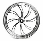 Ultima Polished Billet 21 35 Vortex Front Wheel Rim Single Disc Harley Custom