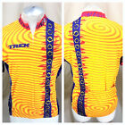 Vintage 90s Trek Bicycling Team XL Retro Graphic 3 4 Zip Up Cycling Jersey