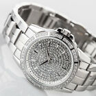 YVES CAMANI GALAURE Womens Watch Stainless Steel Silver Zirconia Crystals New