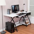US Ship Home Office Sewing Craft Table Folding Computer Desk Study Shelves New