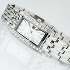 YVES CAMANI AMANCE Womens Watch Stainless Steel Silver Zirconia Crystals New