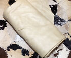 BR601 Leather Cow Hide Cowhide Upholstery Craft Fabric Beige 63 sq ft
