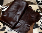 BR616 Leather Cow Hide Cowhide Upholstery Craft Fabric Walnut Brown 48 sq ft