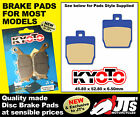 FRONT DISC BRAKE PADS TO SUIT MBK EW50 Stunt Naked (05-10) PATTERN