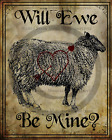 Primitive Valentine Sheep