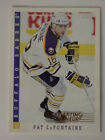 1993 Score Starting Lineup Pat LaFontaine Buffalo Sabres Kenner NHL Hockey Card