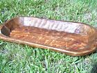 Wooden Dough Bowl bread TRENCHER Hand Carved in USA 0813